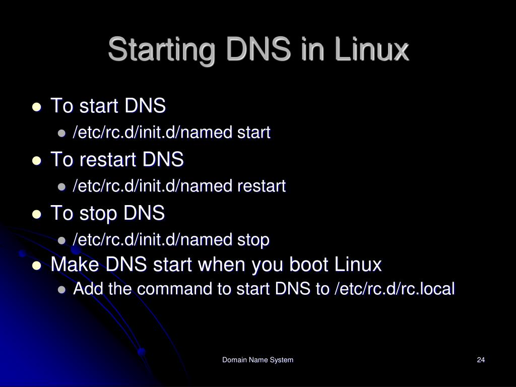 Starting DNS in Linux