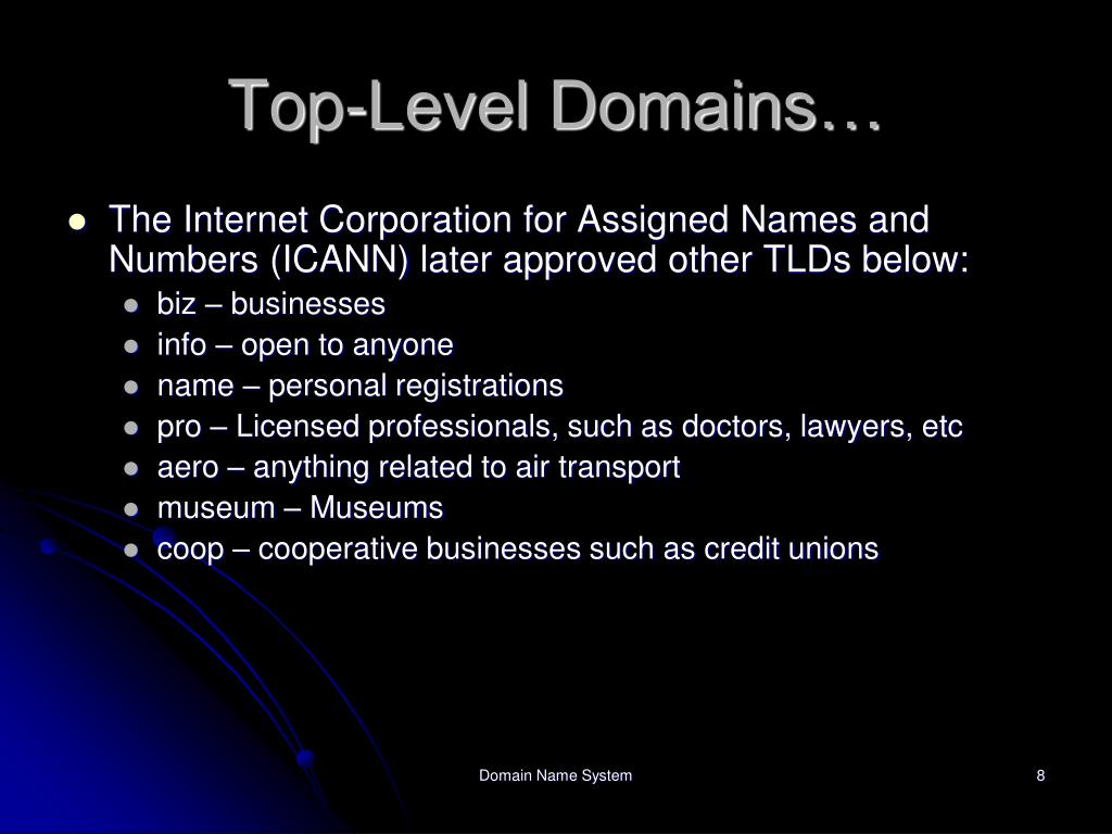 Top-Level Domains…