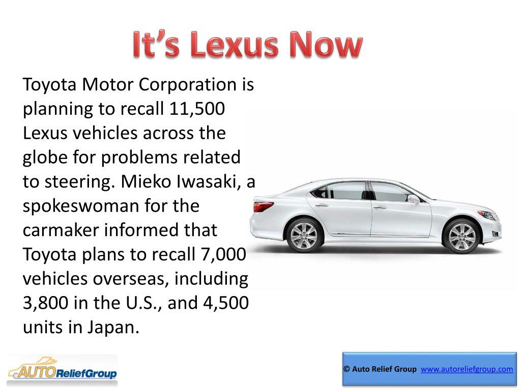 It's Lexus Now