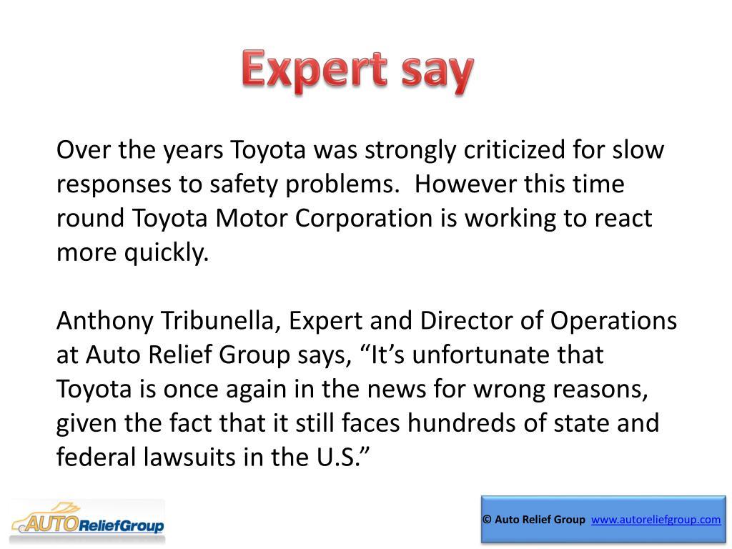 Expert say