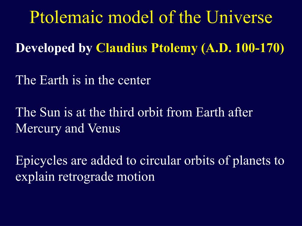 Ptolemaic model of the Universe