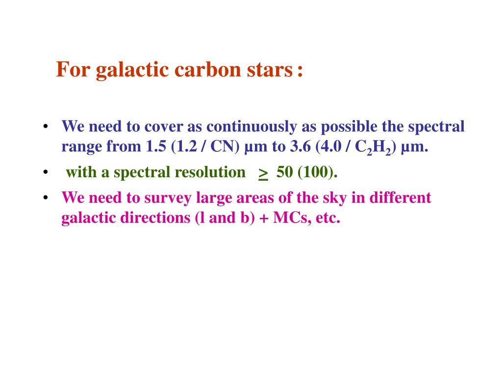 For galactic carbon stars