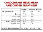 concomitant medicine by randomised treatment