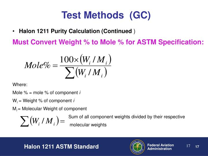 Test Methods  (GC)