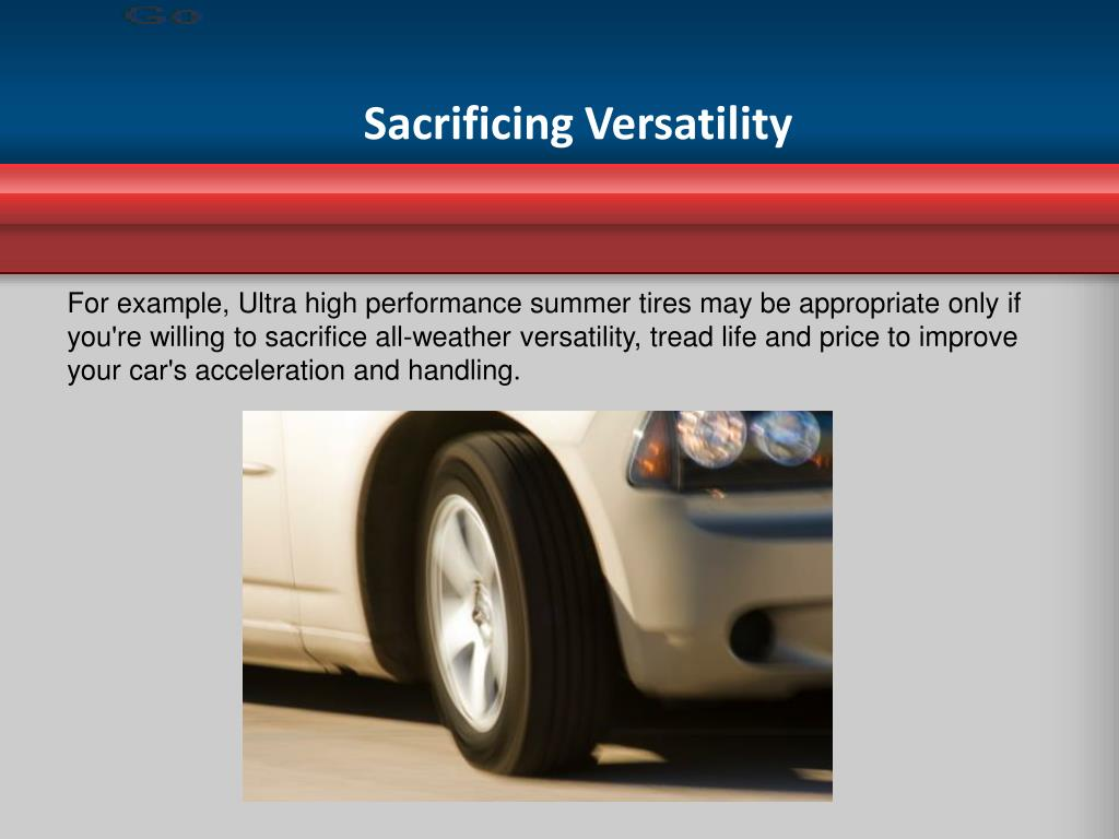 Sacrificing Versatility