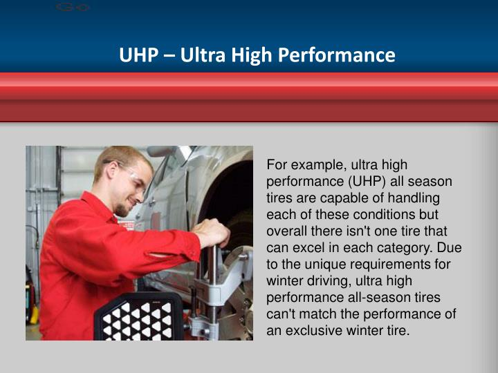 UHP – Ultra High Performance
