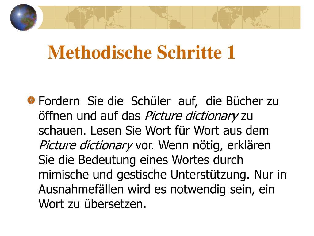 Methodische Schritte 1