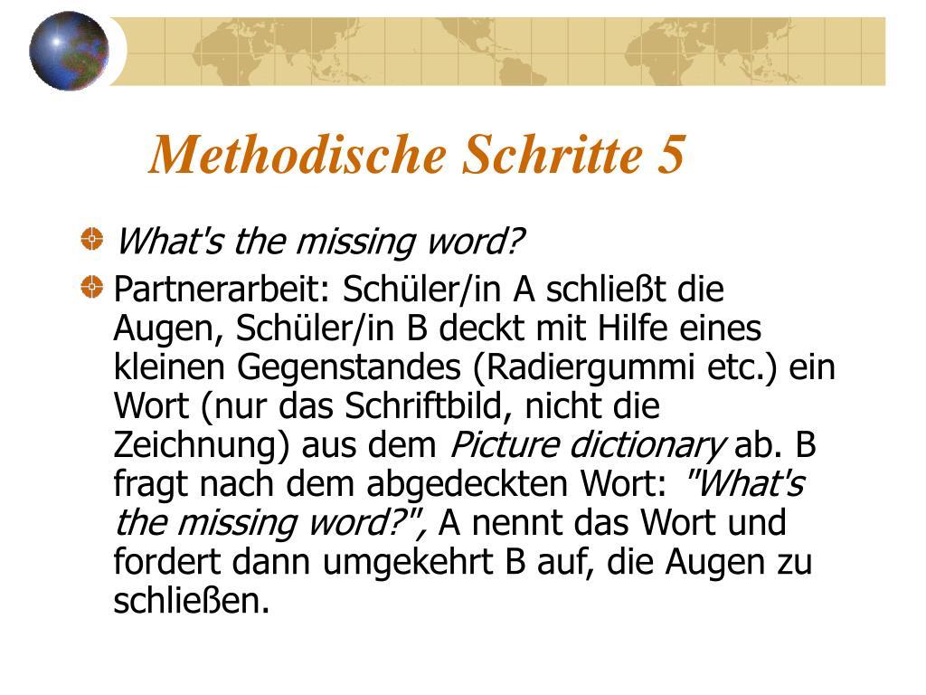 Methodische Schritte 5