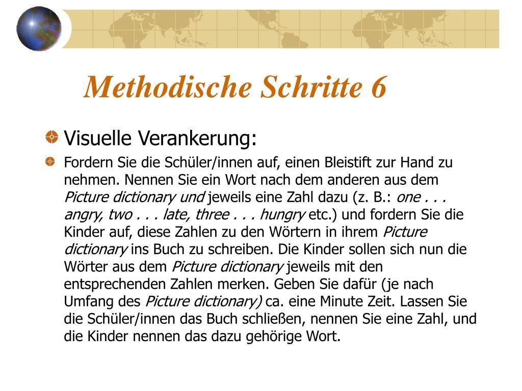 Methodische Schritte 6