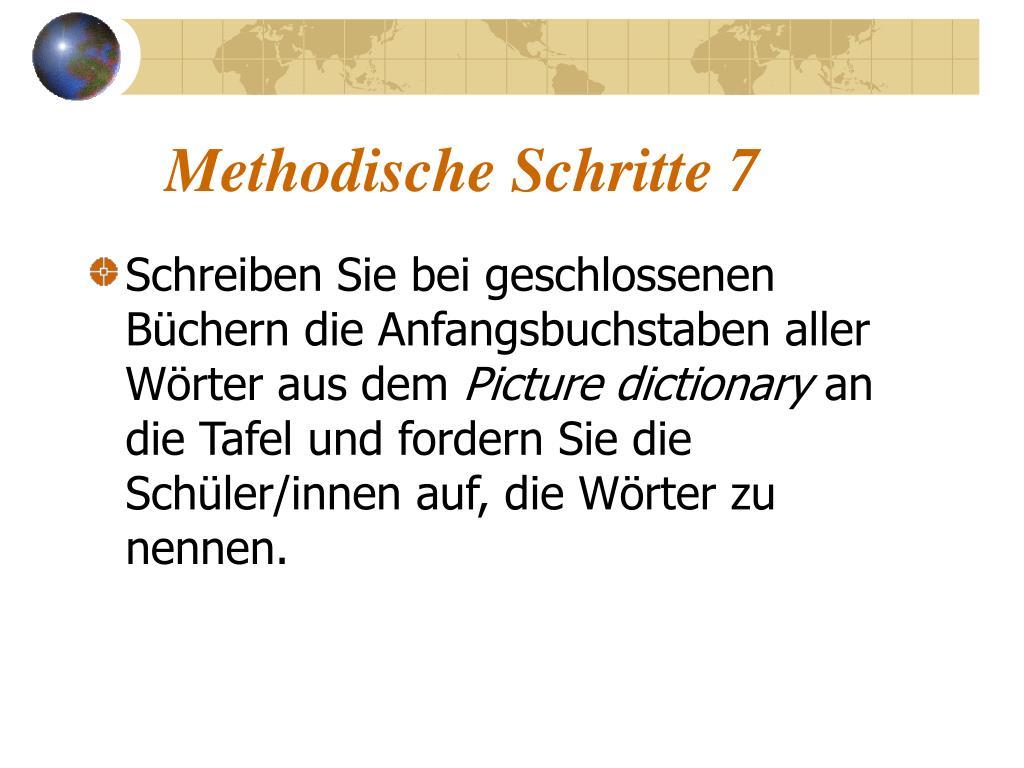 Methodische Schritte 7