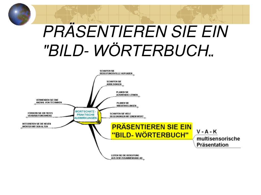 """PRÄSENTIEREN SIE EIN """"BILD- WÖRTERBUCH"""""""