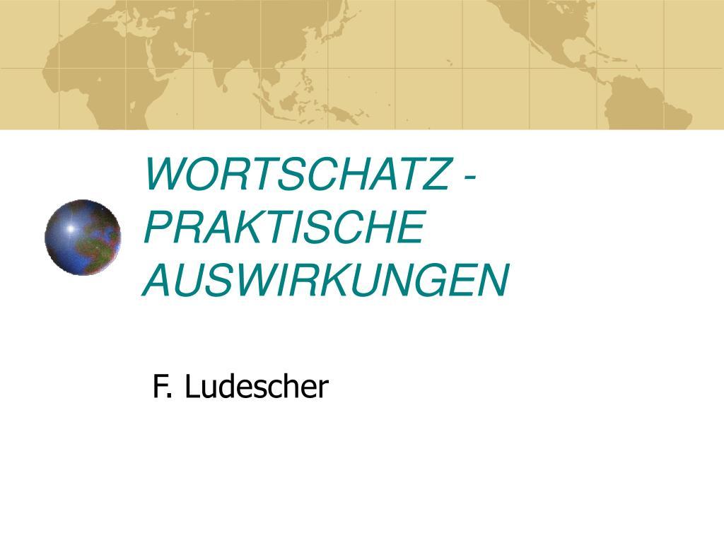 WORTSCHATZ -