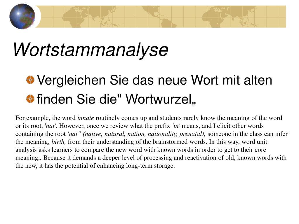 Wortstammanalyse