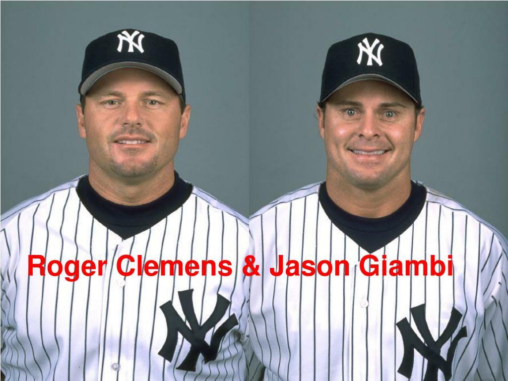 Roger Clemens & Jason Giambi