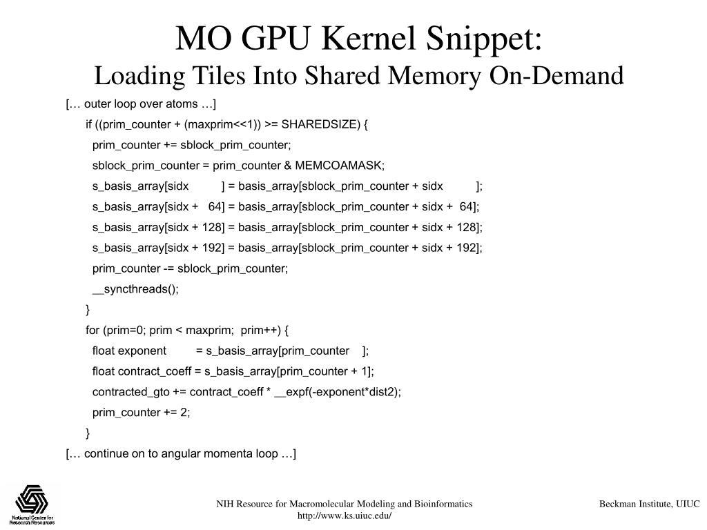 MO GPU Kernel Snippet: