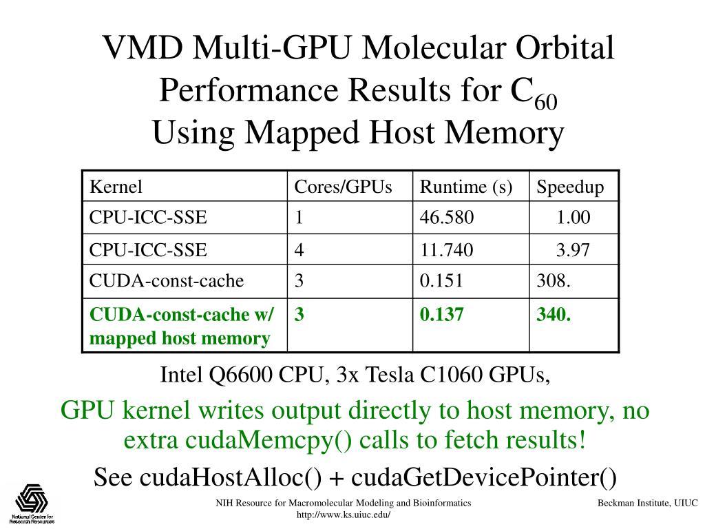 VMD Multi-GPU Molecular Orbital