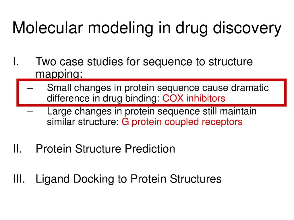 Molecular modeling in drug discovery