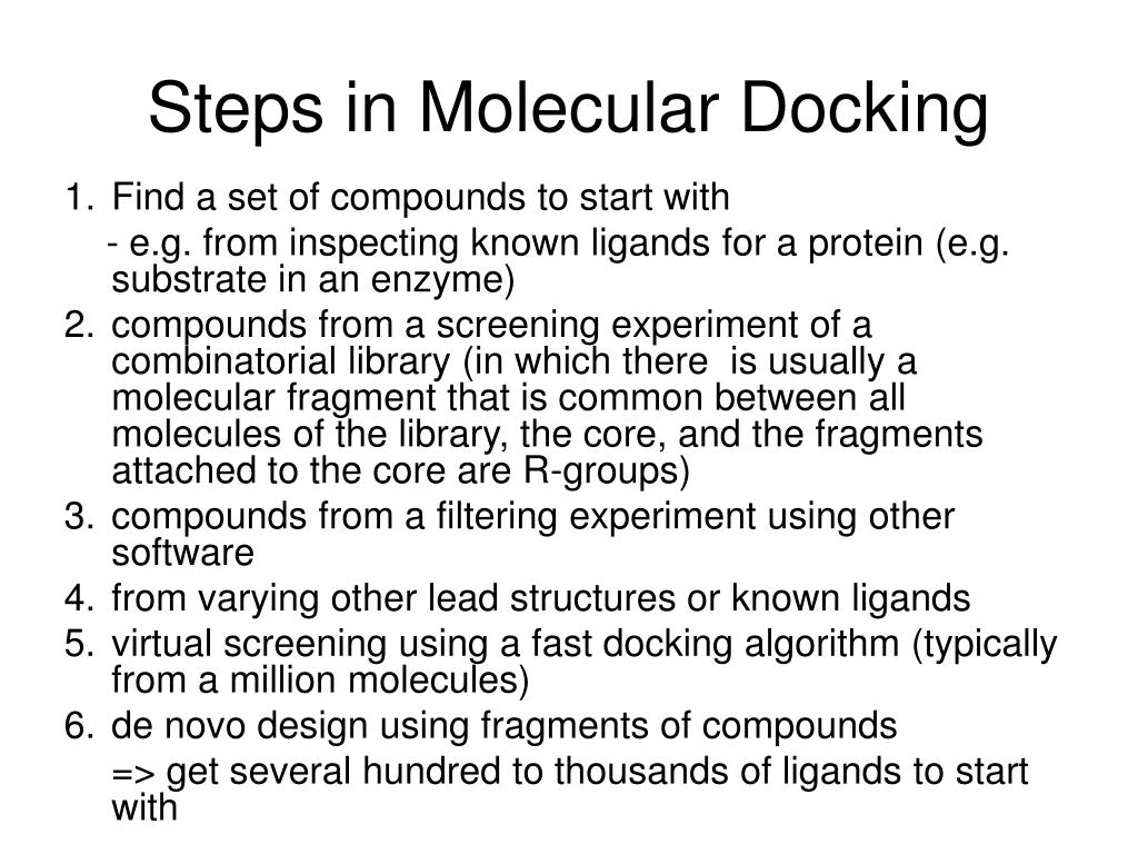 Steps in Molecular Docking