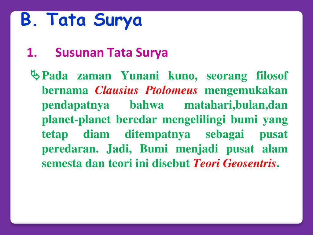 B. Tata Surya