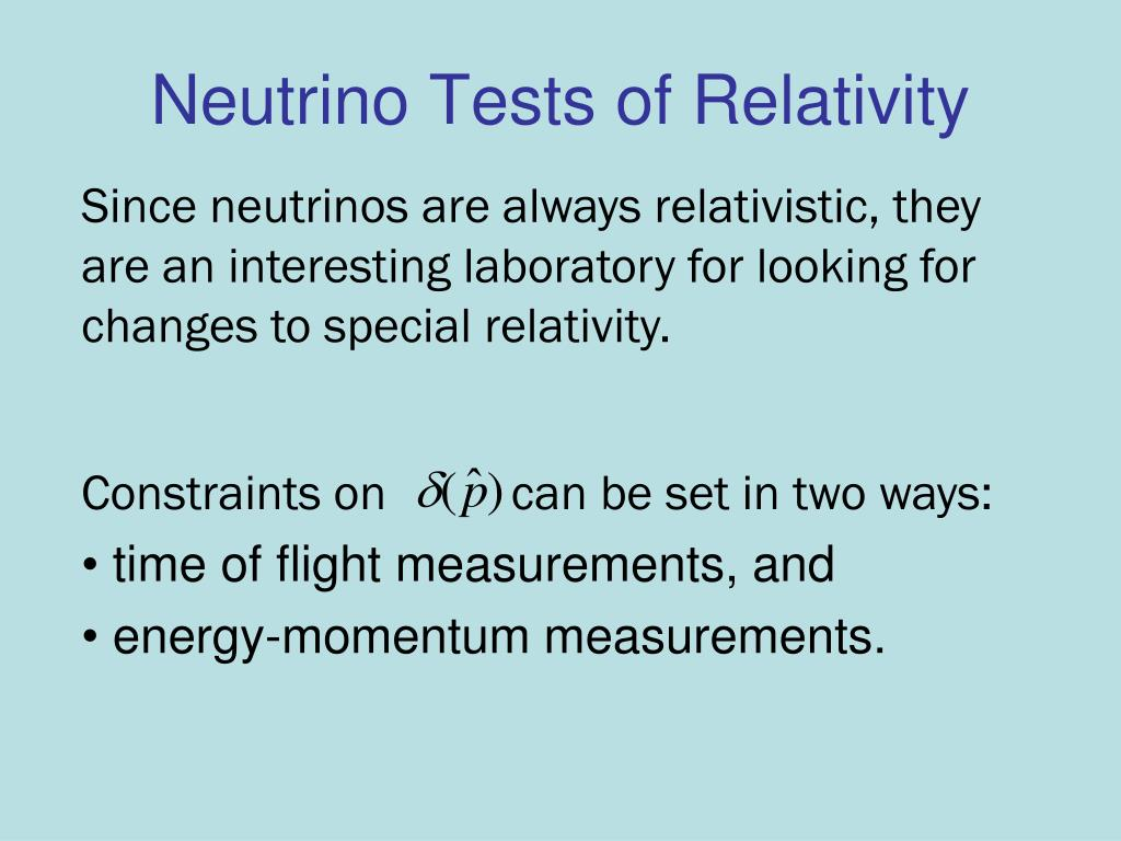 Neutrino Tests of Relativity
