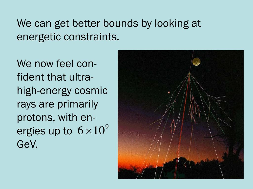 We can get better bounds by looking at energetic constraints.