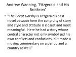 andrew wanning fitzgerald and his brethren