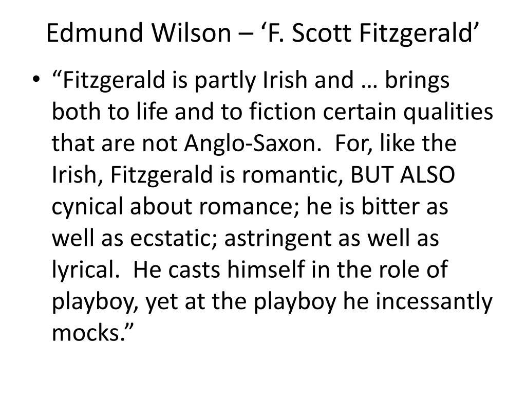 Edmund Wilson – 'F. Scott Fitzgerald'