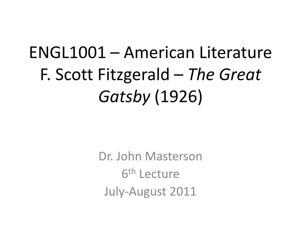 ENGL1001 – American Literature