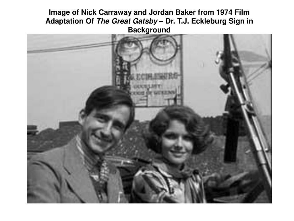 Image of Nick Carraway and Jordan Baker from 1974 Film Adaptation Of