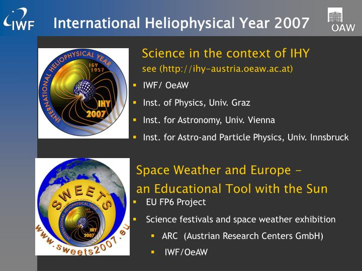 International Heliophysical Year 2007