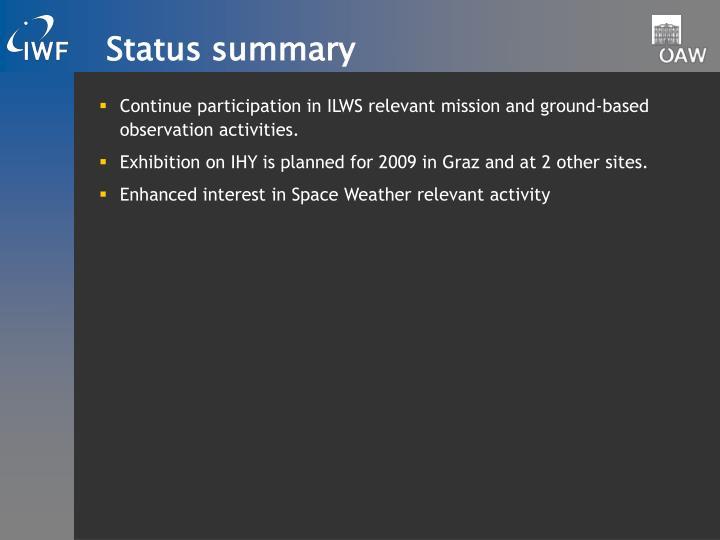 Status summary