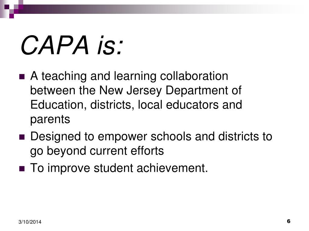 CAPA is: