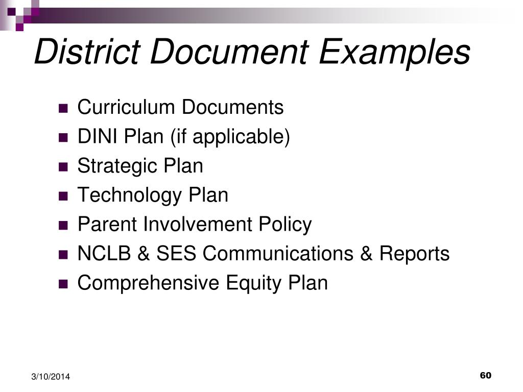 District Document Examples