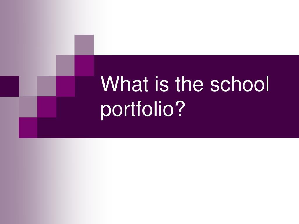 What is the school portfolio?