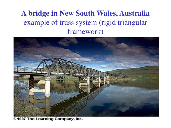 A bridge in new south wales australia example of truss system rigid triangular framework