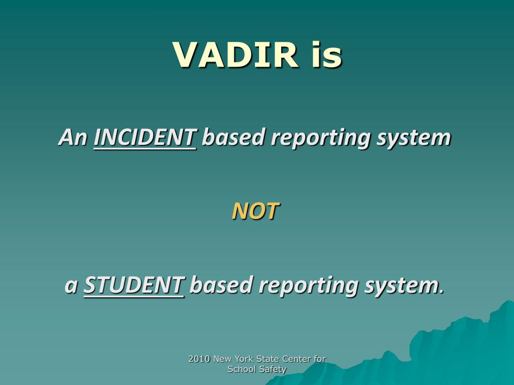 VADIR is
