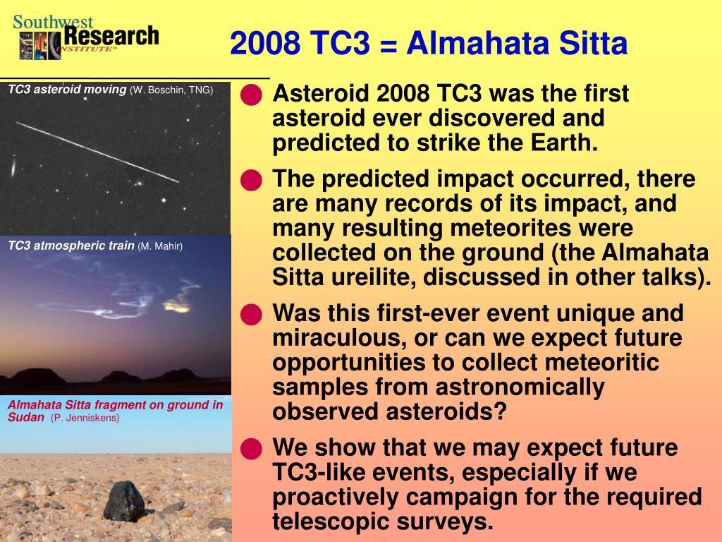 2008 TC3 = Almahata Sitta