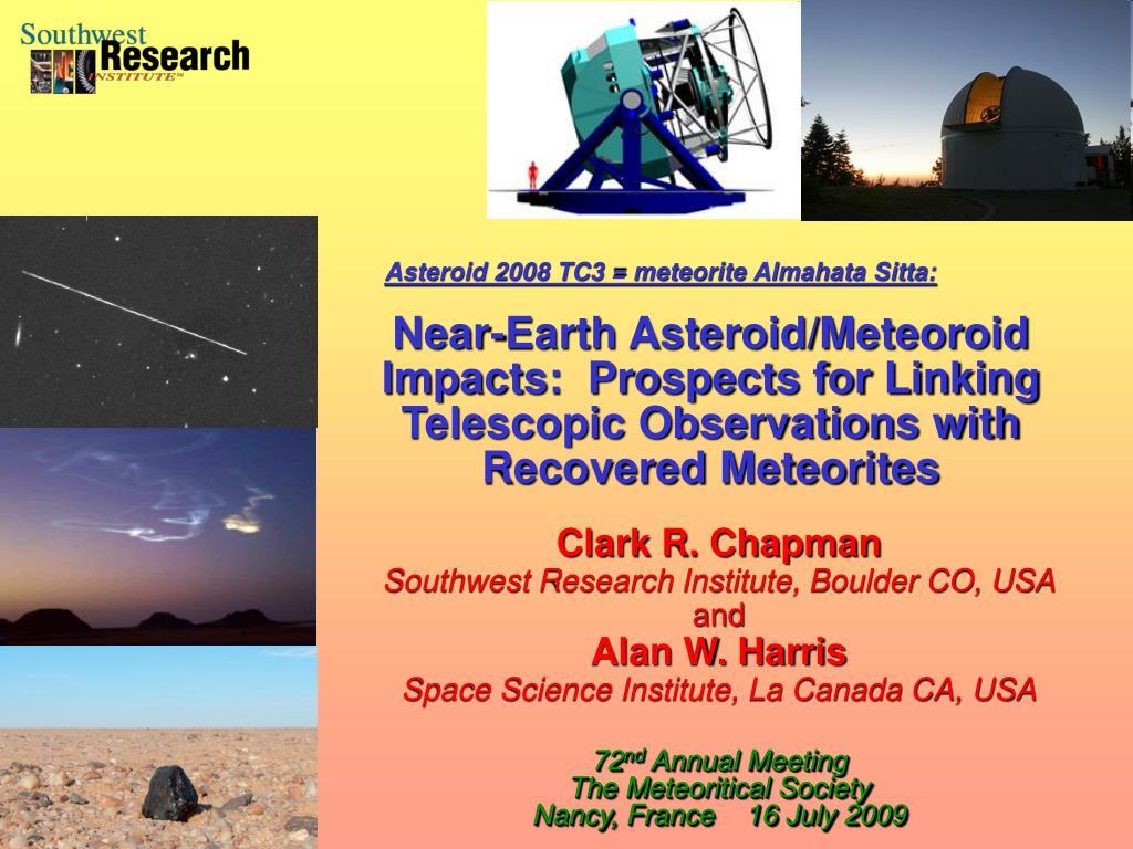Asteroid 2008 TC3 = meteorite Almahata Sitta: