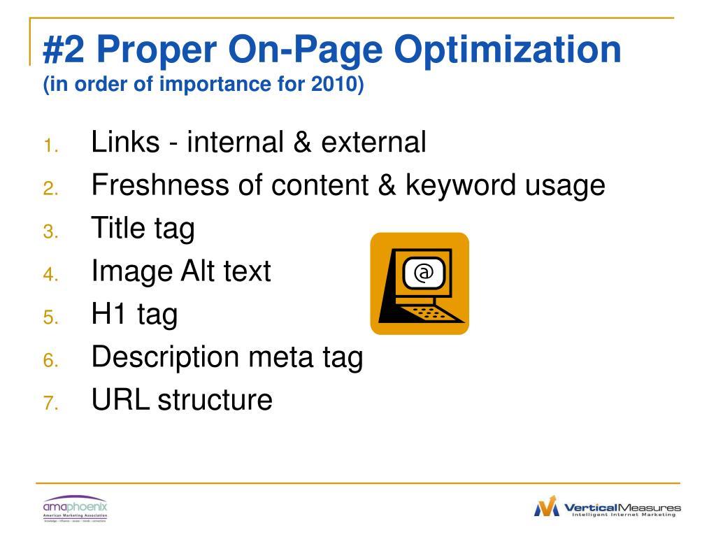 #2 Proper On-Page Optimization