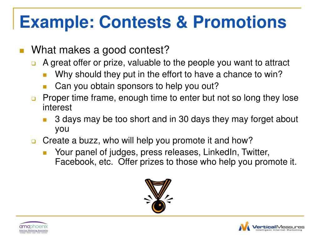 Example: Contests & Promotions