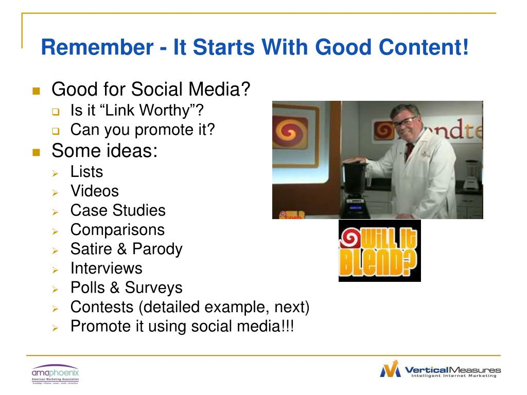 Remember - It Starts With Good Content!