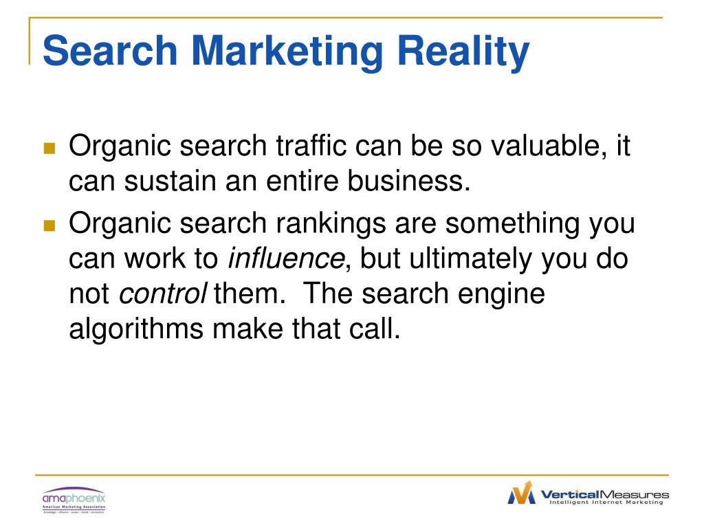 Search Marketing Reality