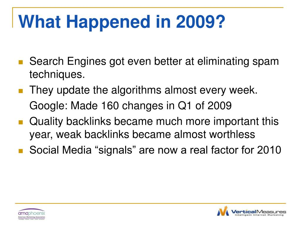 What Happened in 2009?