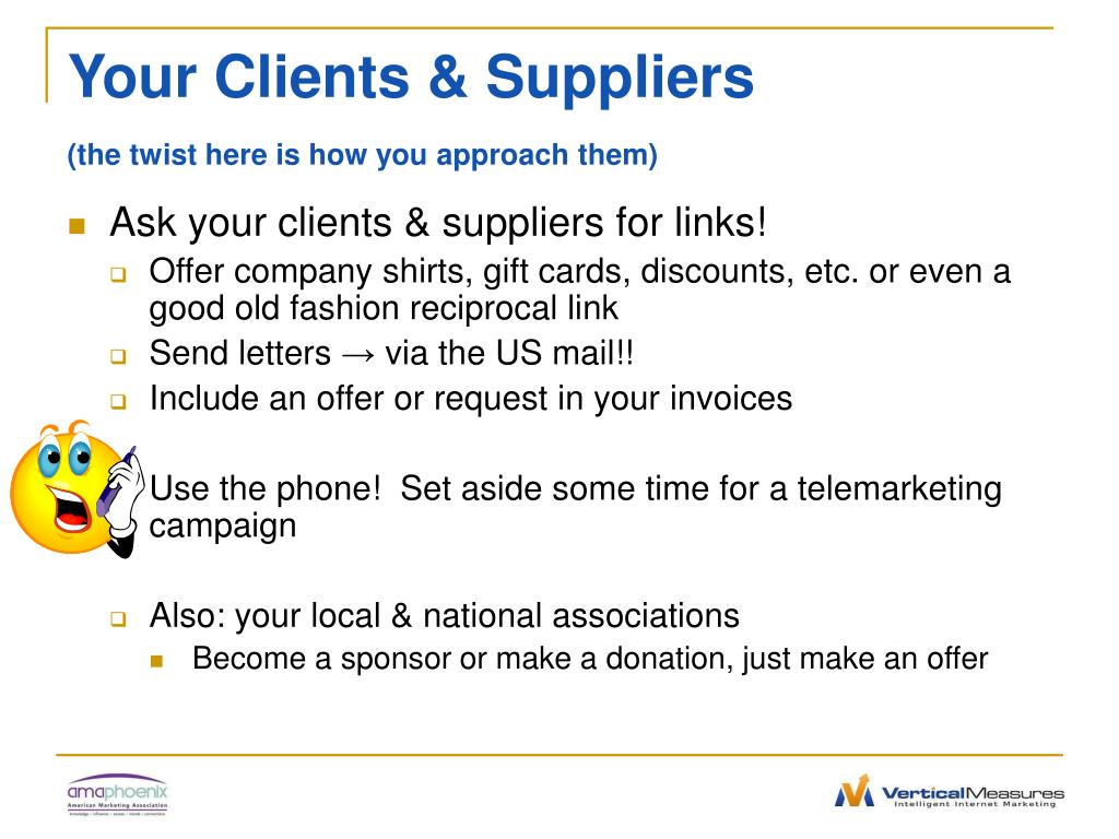 Your Clients & Suppliers