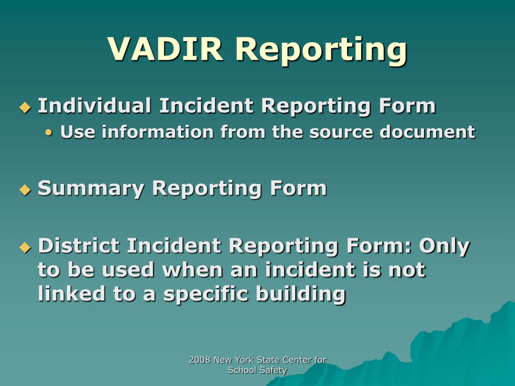 VADIR Reporting