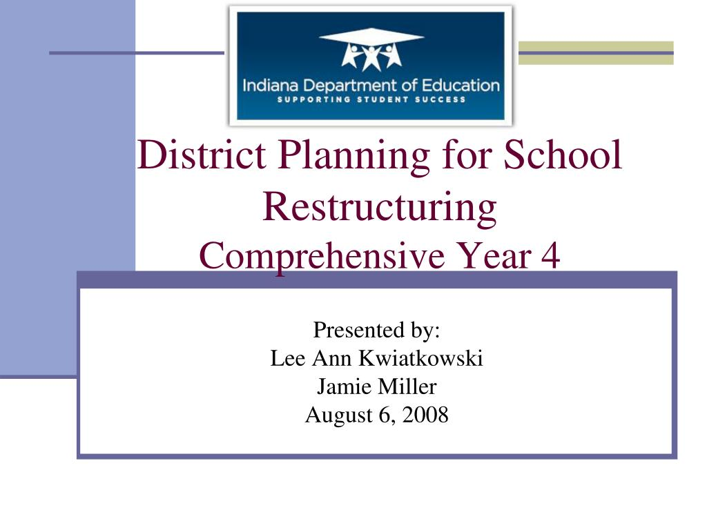 District Planning for School Restructuring