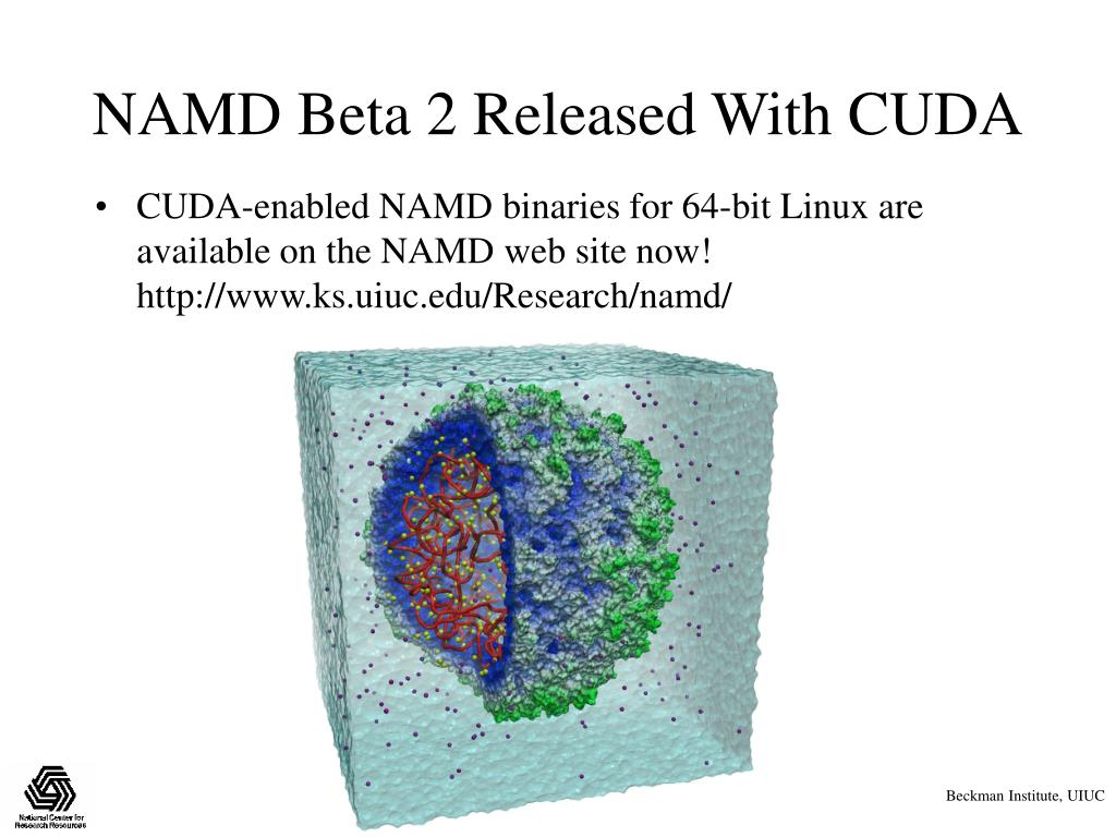 NAMD Beta 2 Released With CUDA