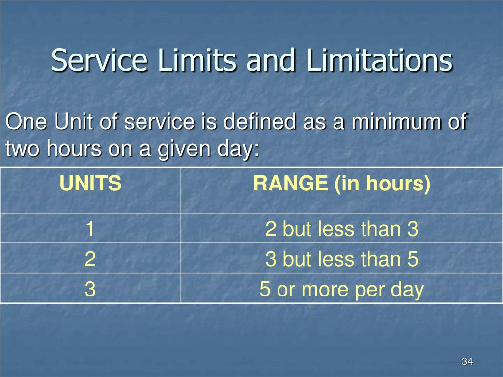 Service Limits and Limitations