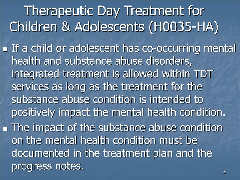 Therapeutic Day Treatment for Children & Adolescents (H0035-HA)