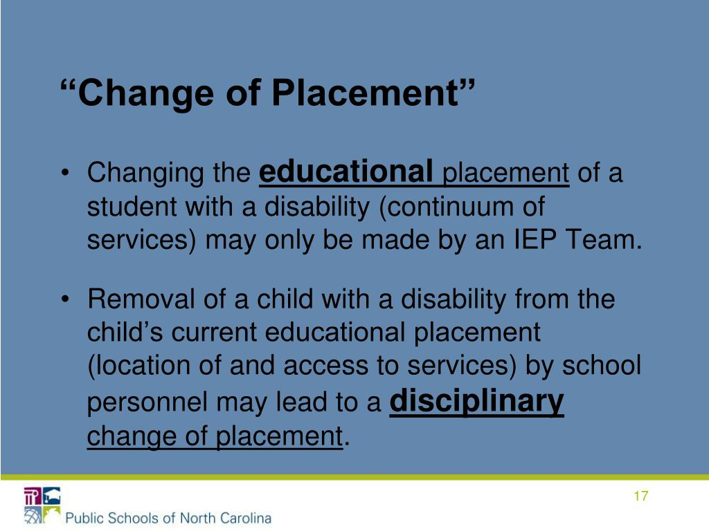 """""""Change of Placement"""""""